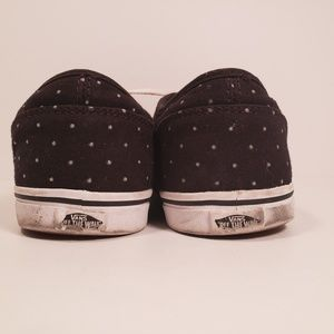 Vans Shoes - VANS Womens Black w White Polka Dots Sneakers Sz 6